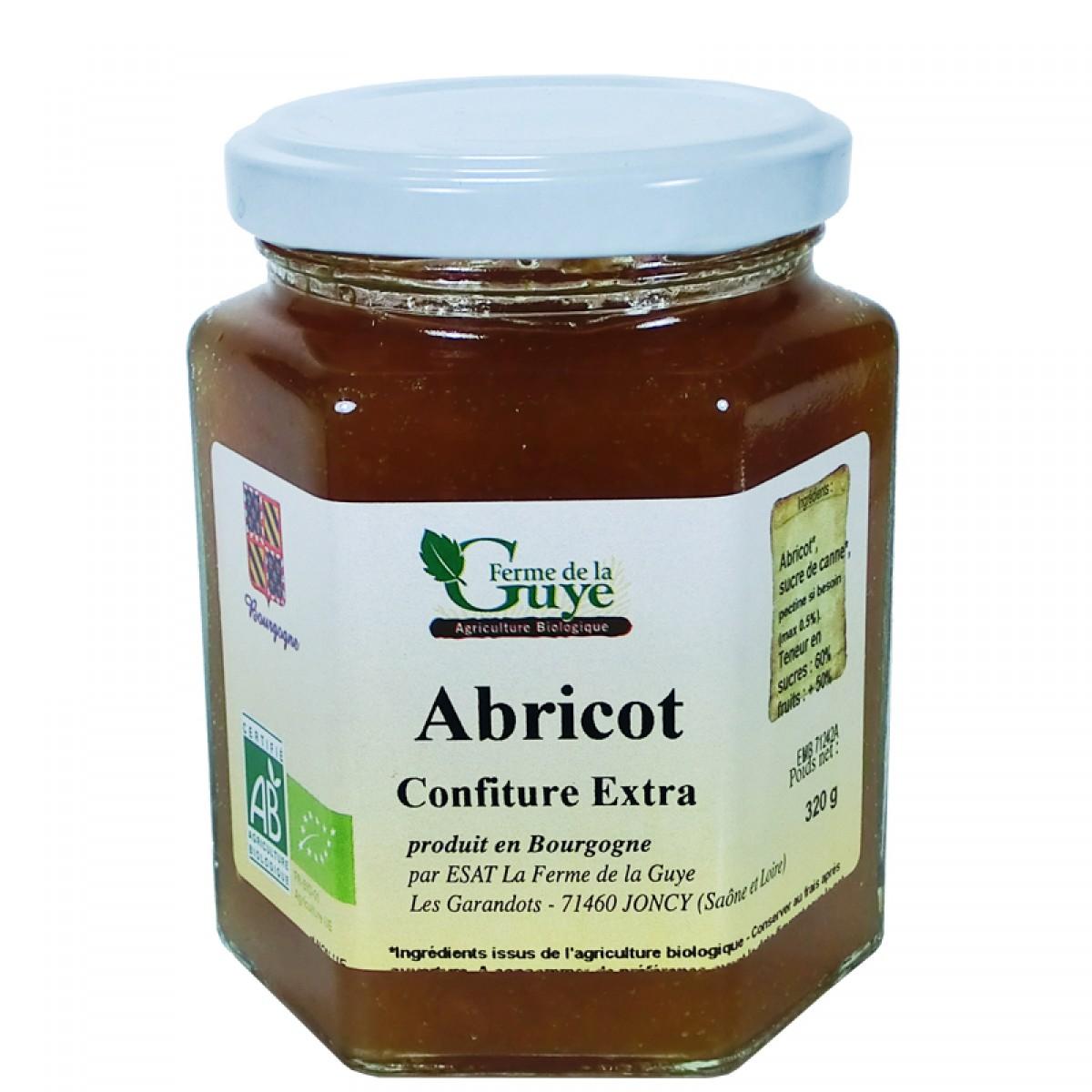 Confiture abricot 320g bio ferme de guye bio saveurs de bourgogne vente de produits du terroir - Confiture de nefles du japon ...