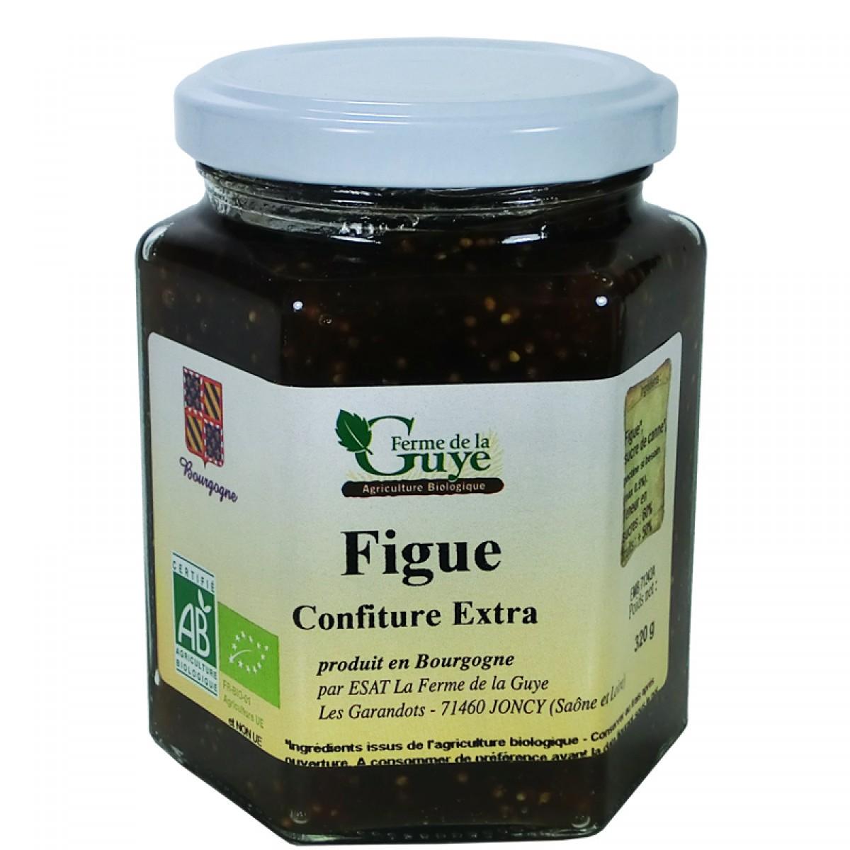 Confiture figue 320g bio ferme de guye saveurs de bourgogne vente de produits du terroir - Confiture de nefles du japon ...