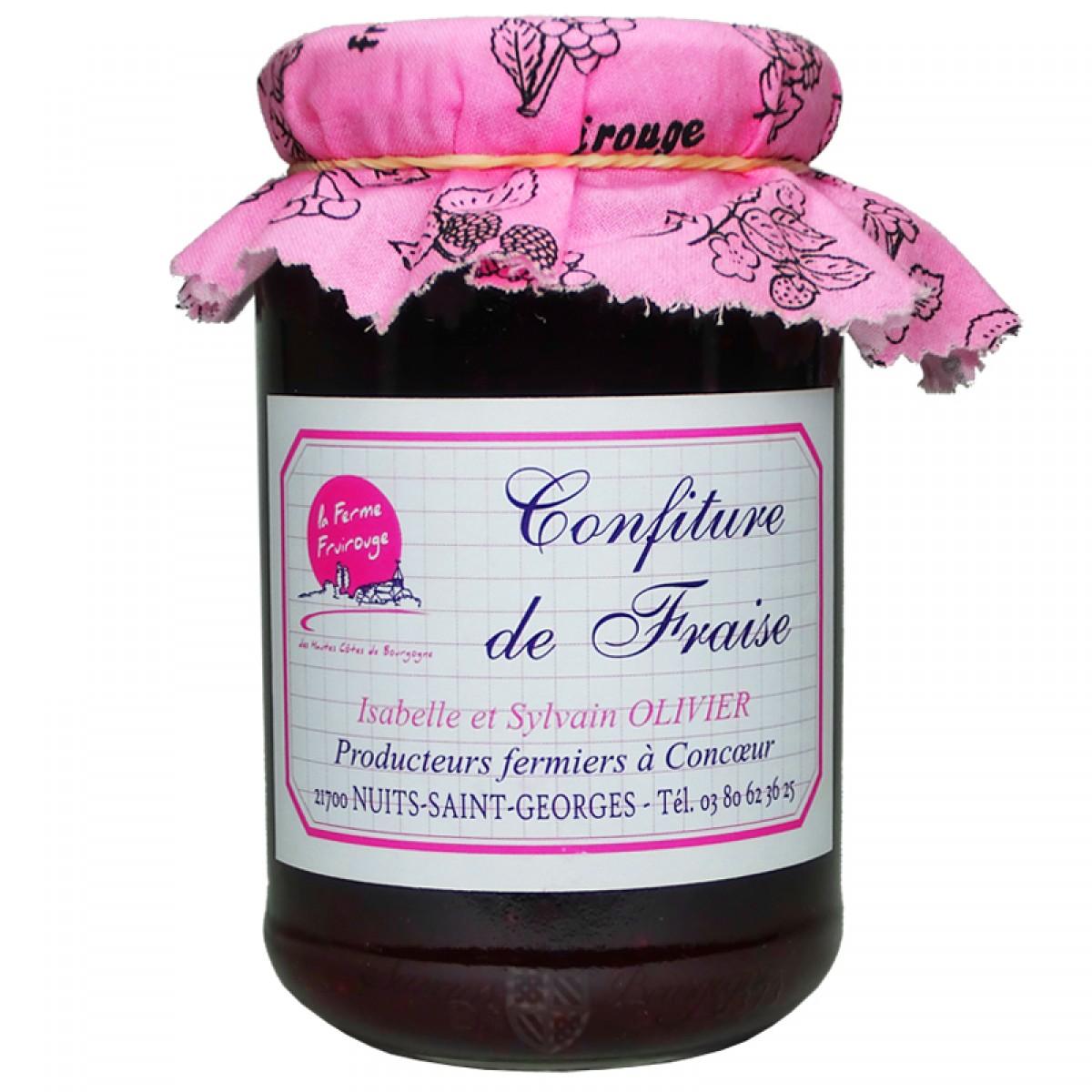Confiture fraise 450g fruirouge saveurs de bourgogne for Fraise pour perceuse dijon