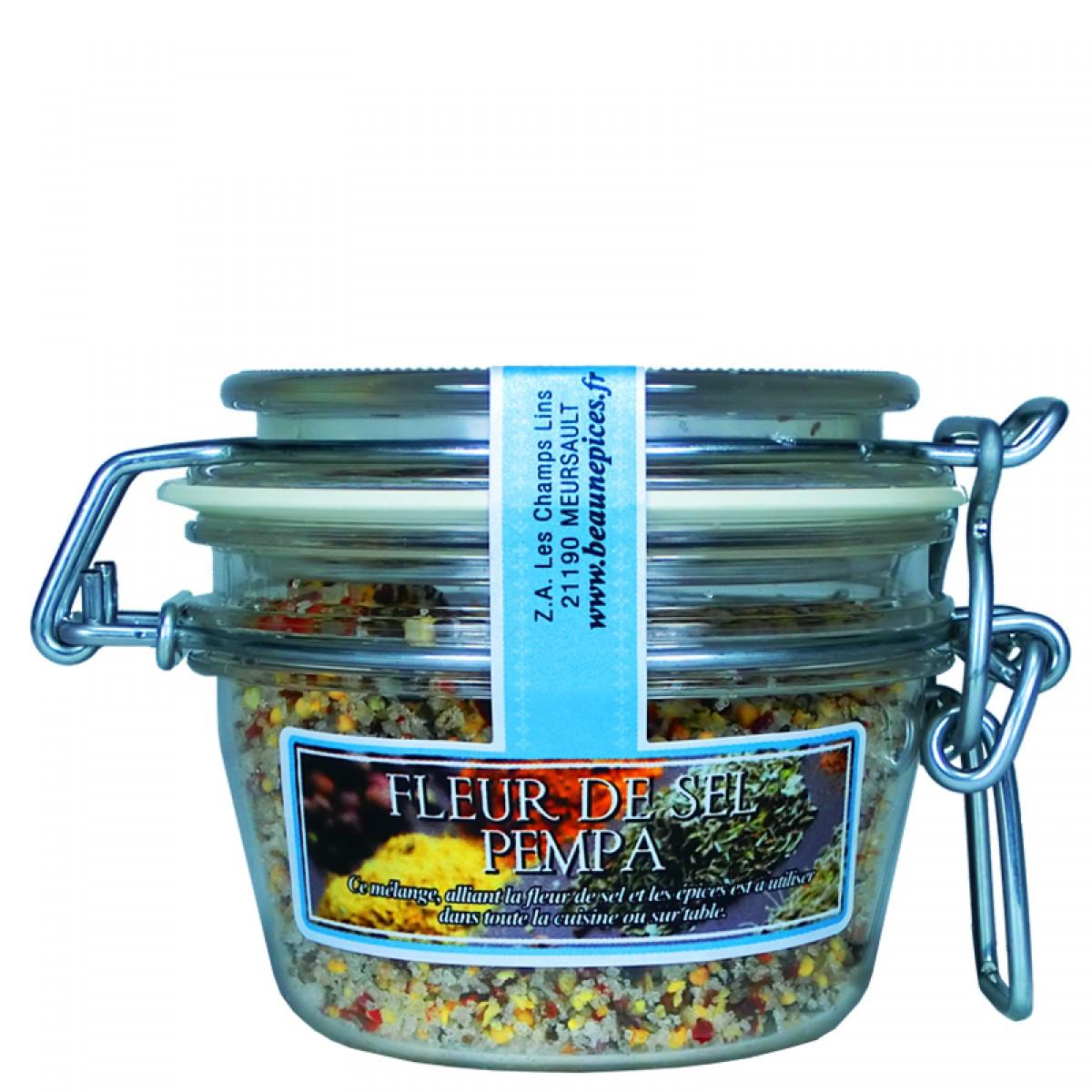 Fleur de sel aux pices pempa 100g saveurs de bourgogne vente de produits du terroir - Fleur de sel aux epices grillees ...