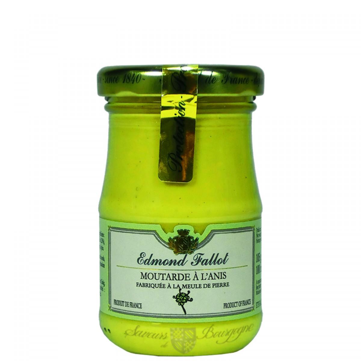 Moutarde l 39 anis 100g fallot saveurs de bourgogne vente de produits - Moutarde fallot vente ...