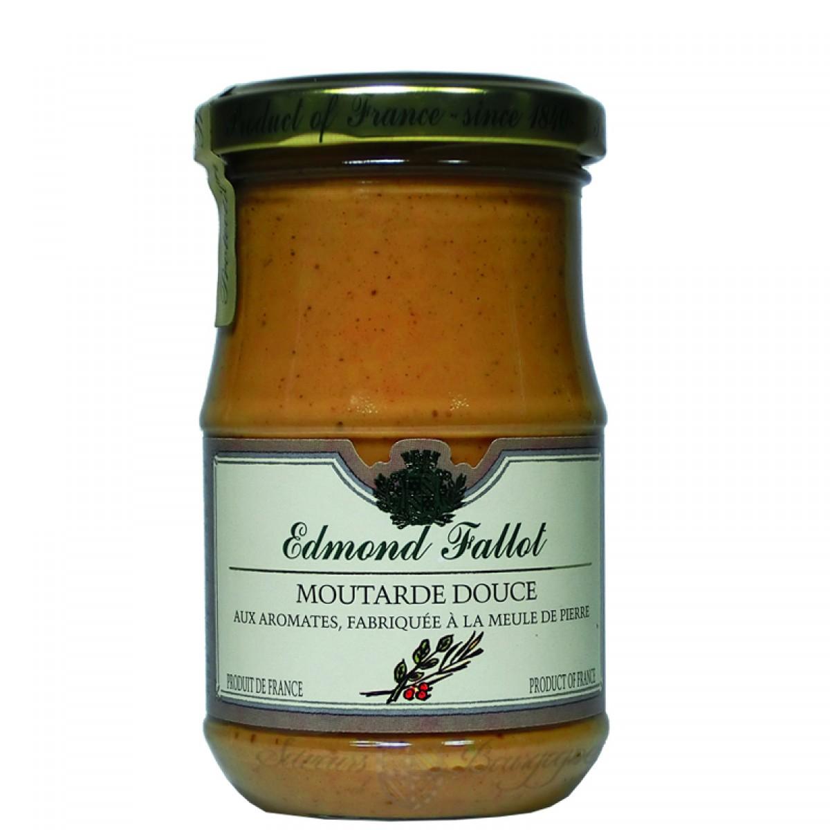 Moutarde brune douce aux aromates 210g fallot saveurs de bourgogne vente - Moutarde fallot vente ...