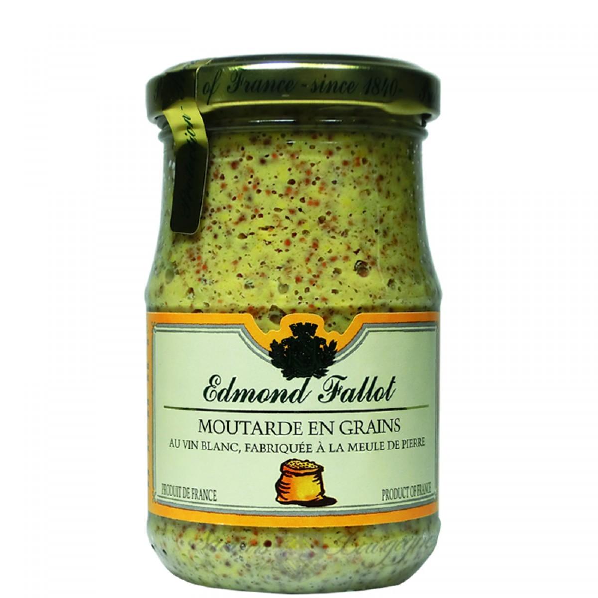 Moutarde en grains au vin blanc de dijon 210g fallot saveurs de bourgogne - Moutarde fallot vente ...