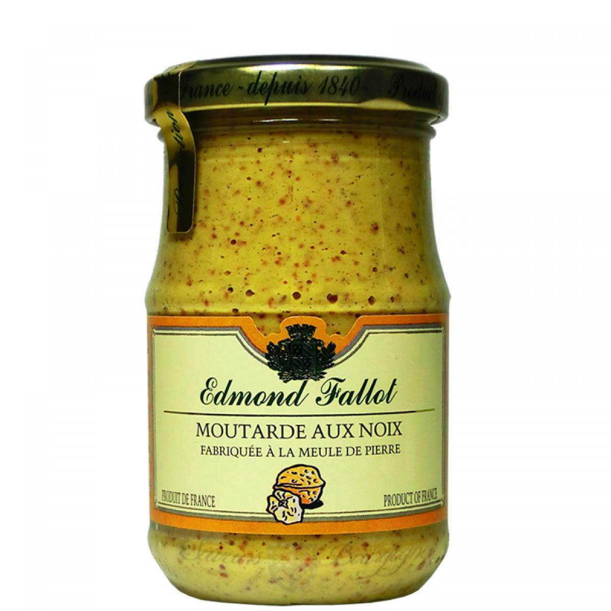 Moutarde aux noix 210g fallot saveurs de bourgogne produits du terroir - Moutarde fallot visite ...