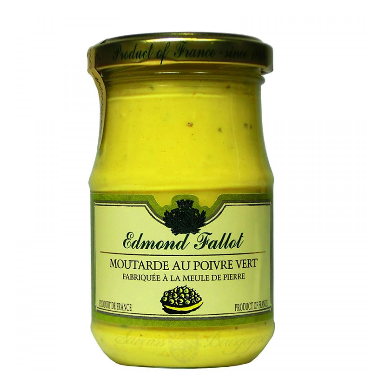 Moutarde au poivre vert 210g fallot saveurs de bourgogne vente de produit - Moutarde fallot vente ...
