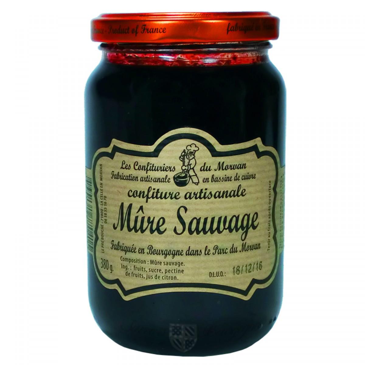 Confiture m re sauvage 380g confiturier du morvan saveurs de bourgogne vente de produits du - Confiture de mures sauvages maison ...