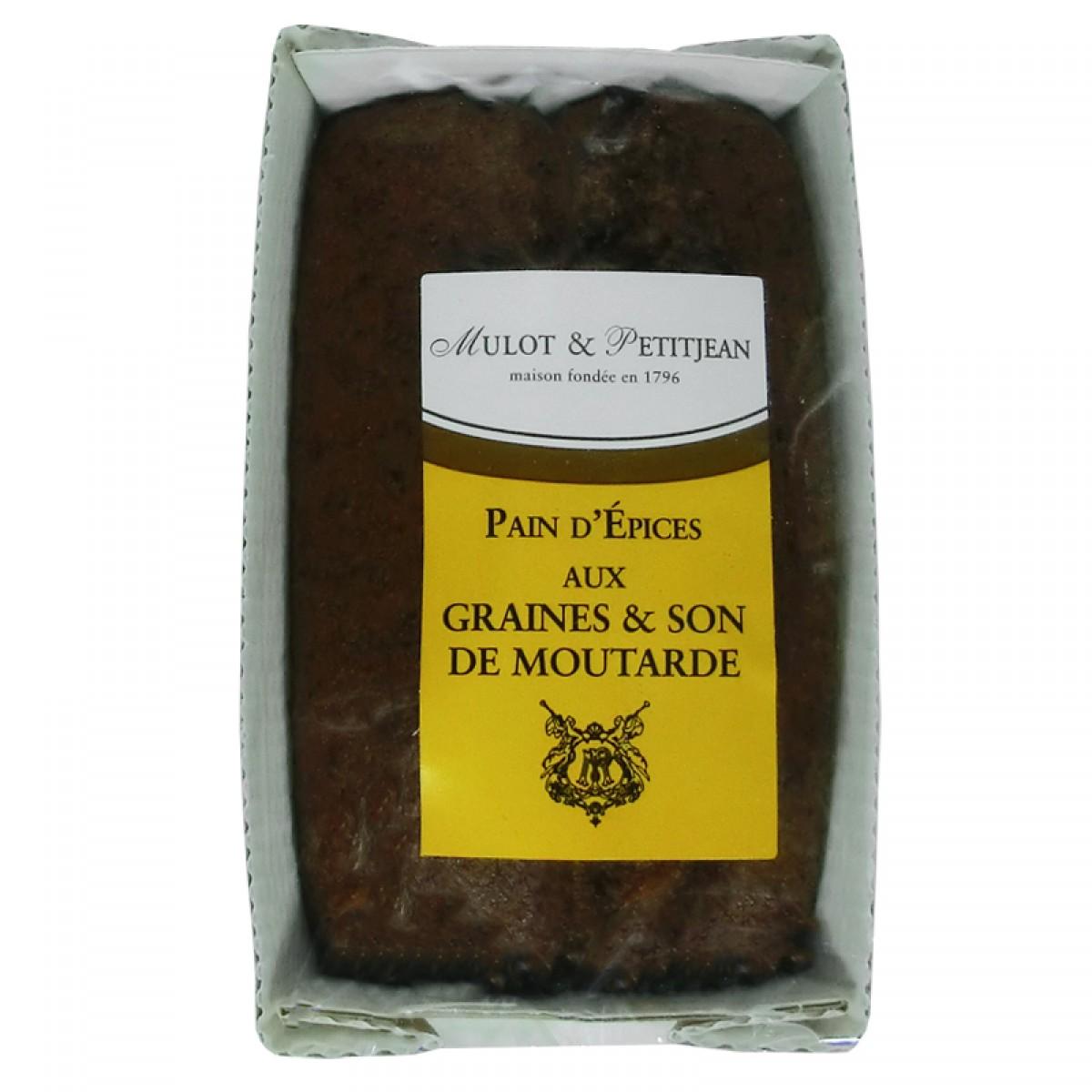 Pain d 39 pices aux graines et son de moutarde 180g saveurs de bourgogne - Moutarde fallot vente ...