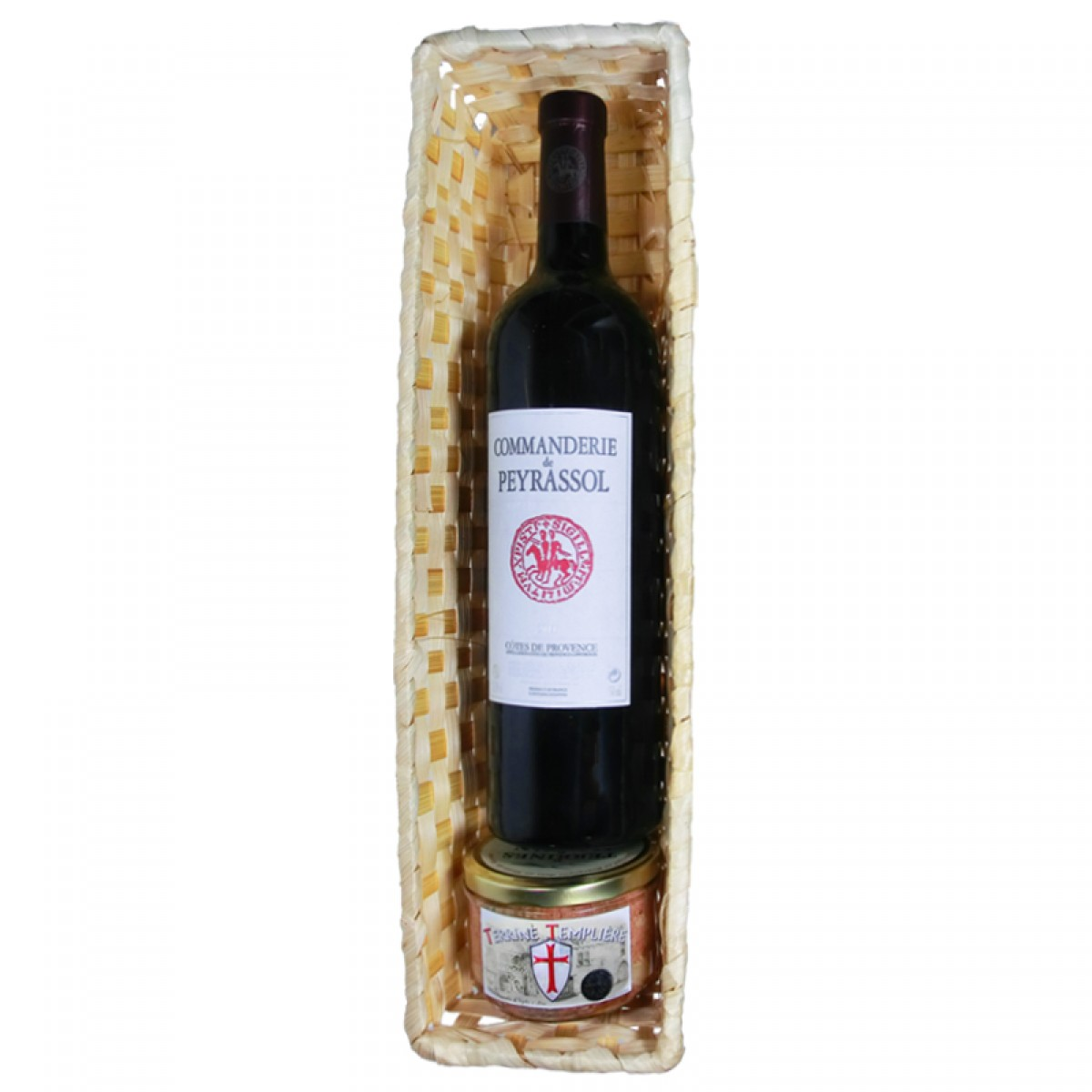 panier des templiers 1 bouteille 1 terrine saveurs de bourgogne vente de produits du terroir. Black Bedroom Furniture Sets. Home Design Ideas