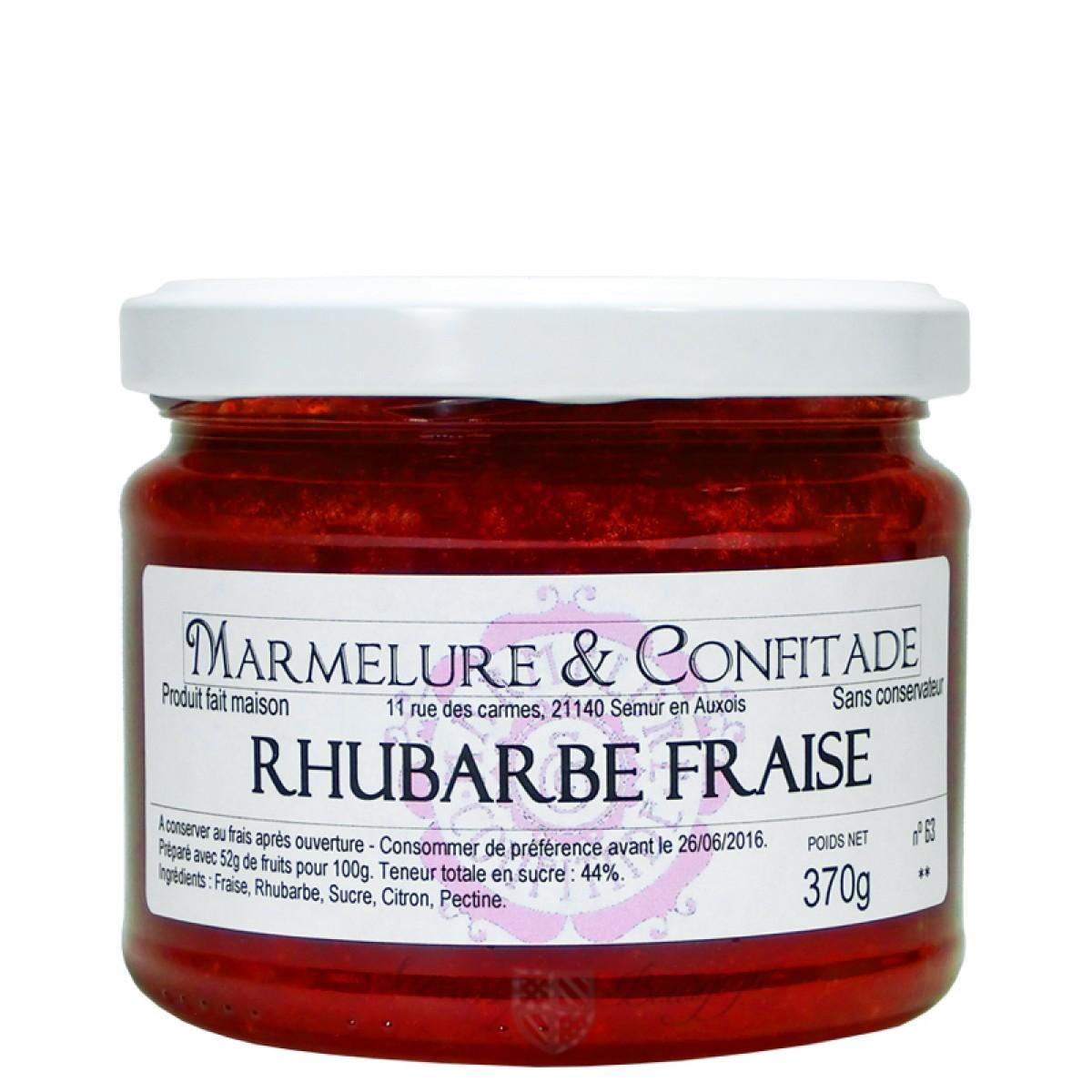 confiture rhubarbe et fraise 370g marmelure confitade. Black Bedroom Furniture Sets. Home Design Ideas
