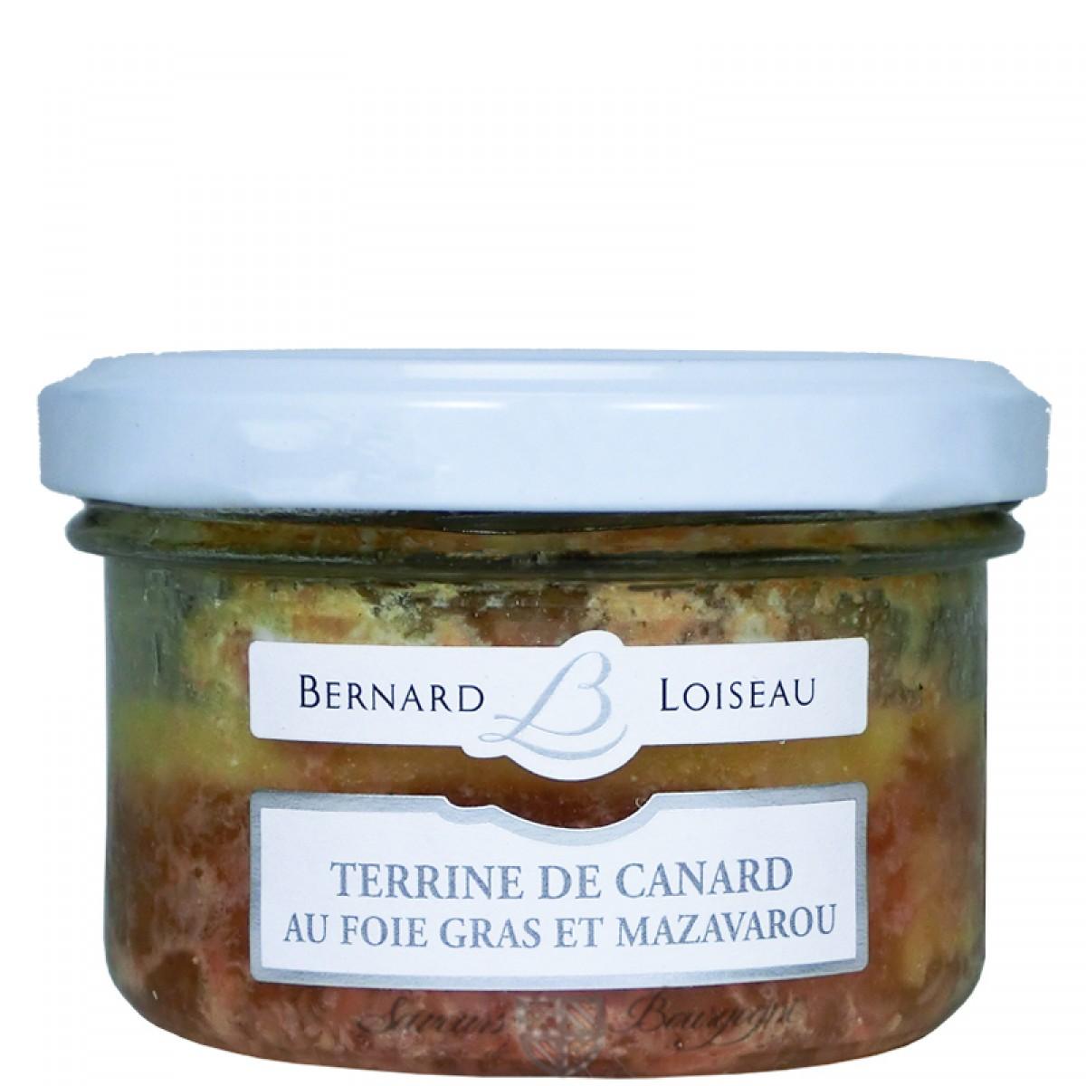 terrine de canard au foie gras et mazavarou 80g saveurs. Black Bedroom Furniture Sets. Home Design Ideas
