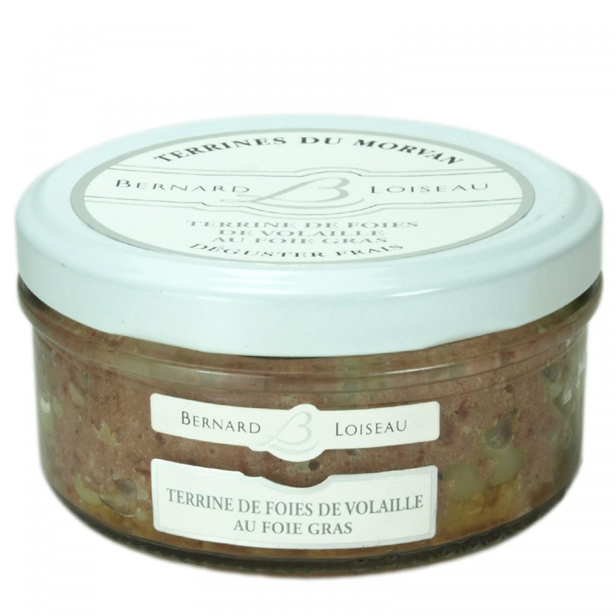 terrine de foies de volailles au foie gras 140g saveurs. Black Bedroom Furniture Sets. Home Design Ideas