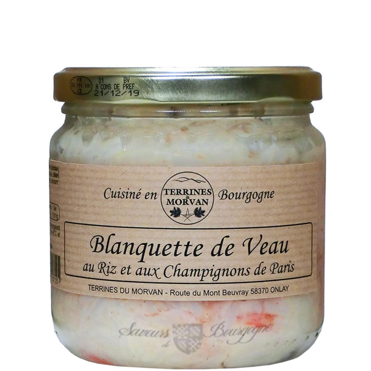 Blanquette De Veau Au Riz Et Aux Champignons De Paris 400g Saveurs