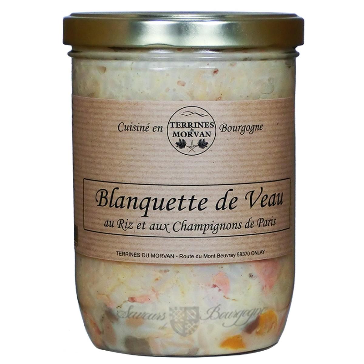 Blanquette De Veau Au Riz Et Aux Champignons De Paris 750g Saveurs