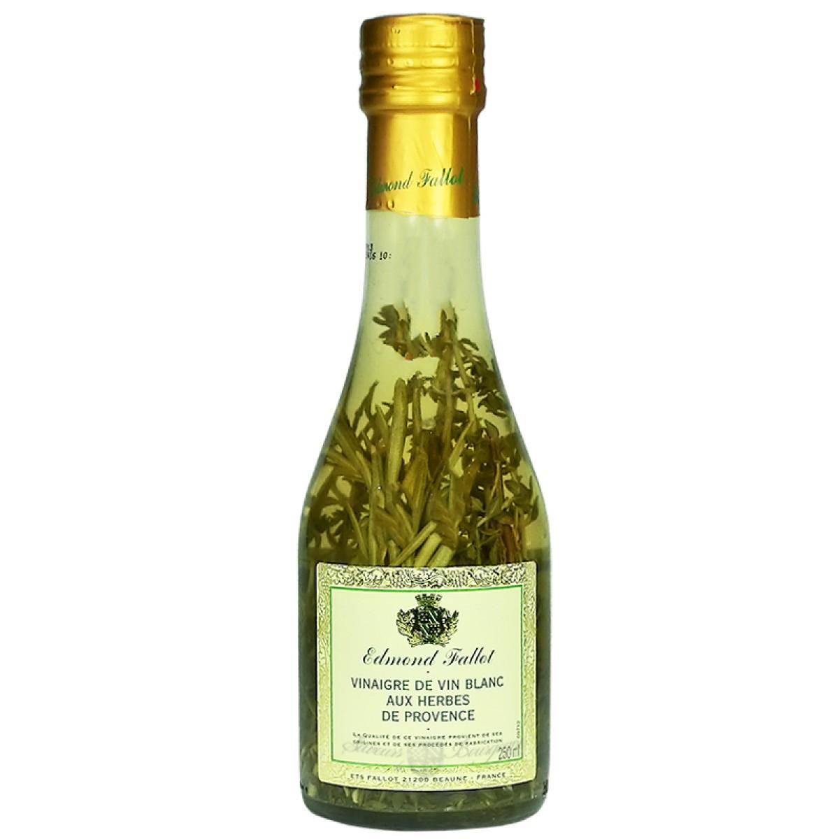Vinaigre de vin blanc aux herbes de provences 250ml fallot saveurs de bourg - Moutarde fallot vente ...