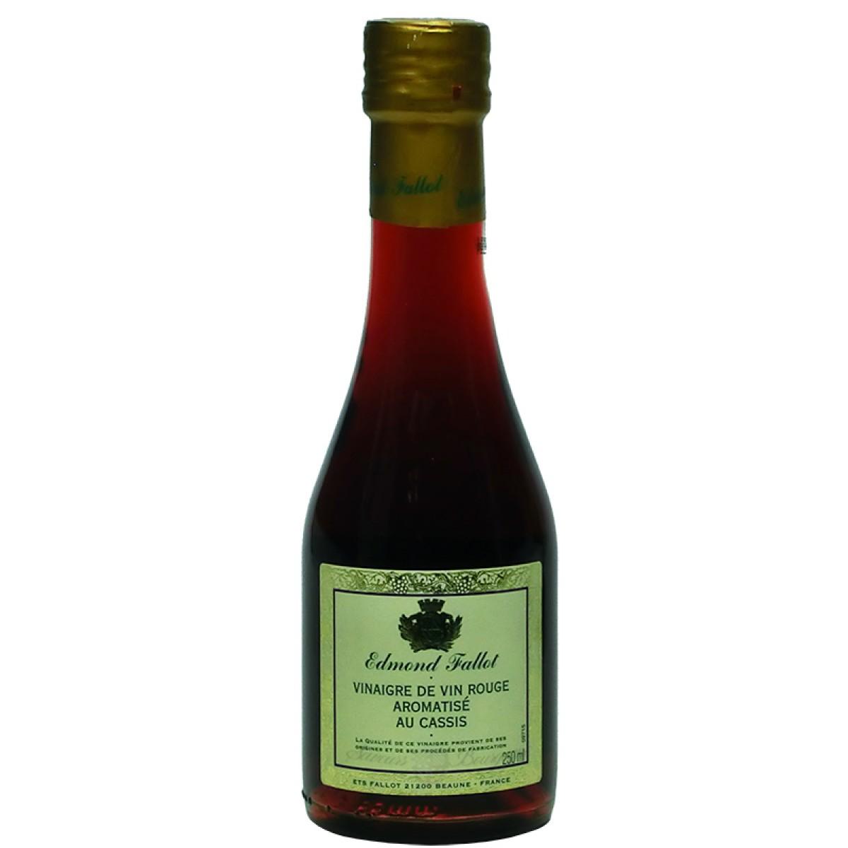 vinaigre de vin rouge aromatis au cassis 250ml fallot saveurs de bourgogne vente de. Black Bedroom Furniture Sets. Home Design Ideas
