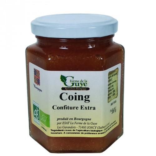 Confiture coing 320g bio ferme de guye saveurs de bourgogne vente de produits du terroir - Confiture de nefles du japon ...