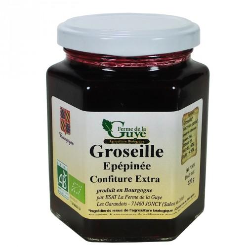 Confiture Groseille épépinée 320g bio Ferme de Guye