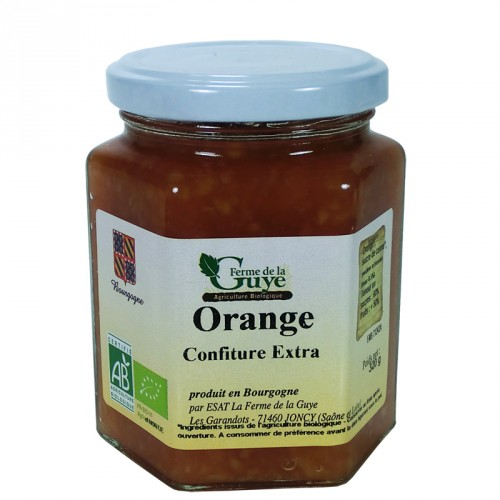 Confiture Orange 320g artisanale bio