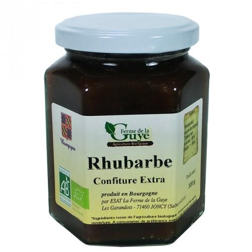 Confiture Rhubarbe 320g Bio ferme de Guye