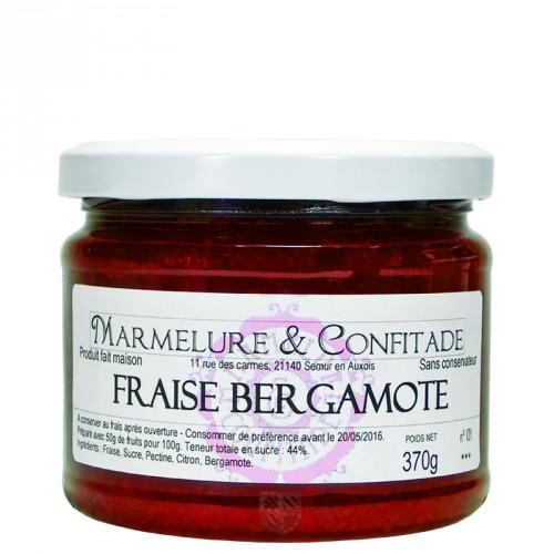 Confiture Fraise et bergamote 370g Marmelure & Confitade