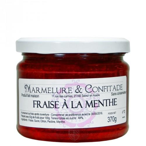 Confiture Fraise à la menthe 370g Marmelure & Confitade