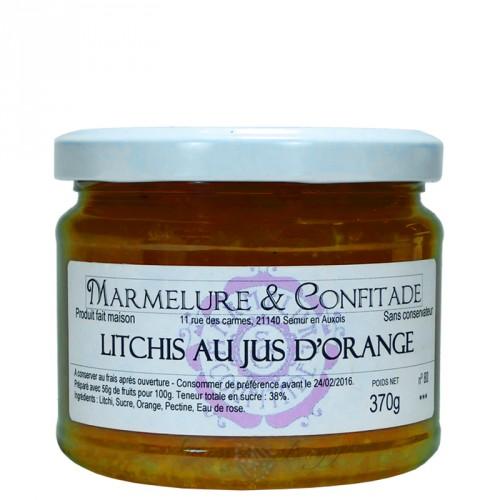Confiture Litchis au jus d'orange 370g Marmelure & Confitade