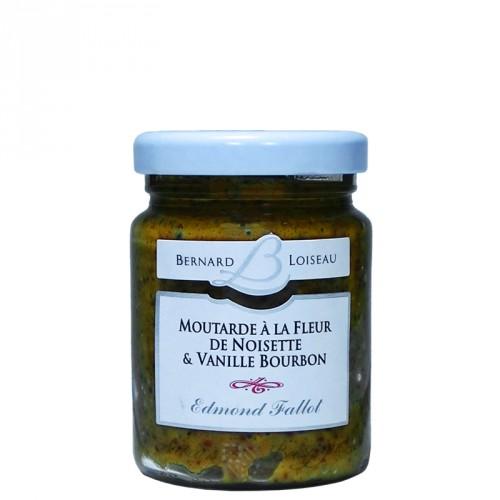 Moutarde à la fleur de noisette & vanille Bourbon 100g