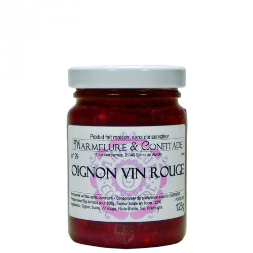 Confit d'oignon au vin rouge 125g
