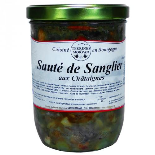 Sauté de Sanglier aux Châtaignes 750g
