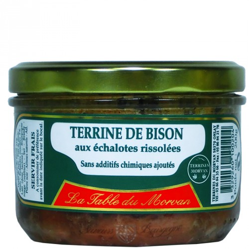 Terrine de Bison aux échalotes rissolées 200g