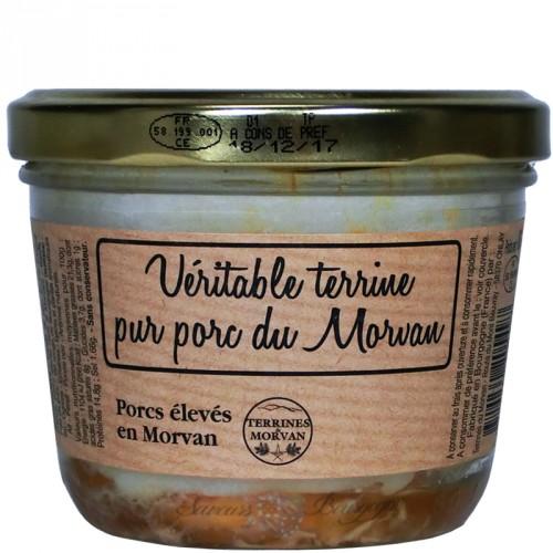 Véritable terrine pur porc du Morvan 180g (Porcs élevés en Morvan)