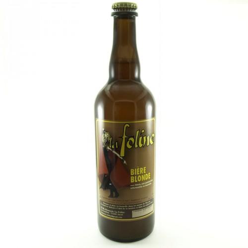 Bière blonde La Foline75 cl artisanale Bio