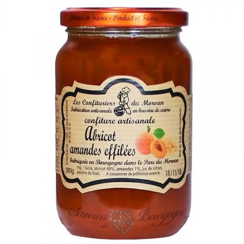 Confiture Abricot-Amandes effilées 380g Confiturier du Morvan