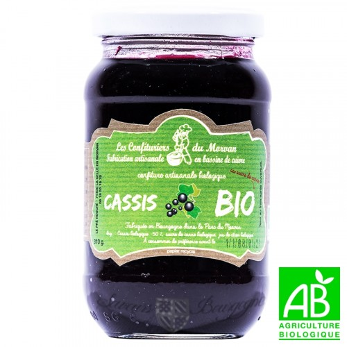 Confiture Cassis Bio 310g Confiturier du Morvan