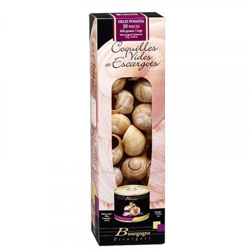 """Escargots de Bourgogne """"moyens"""" boîte 1/4 3Dz avec coquilles 115g"""
