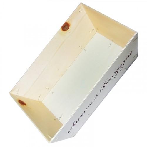 Corbeille Saveurs de Bourgogne bois à remplir - Dim : 29cm x 19.5cm x 9cm