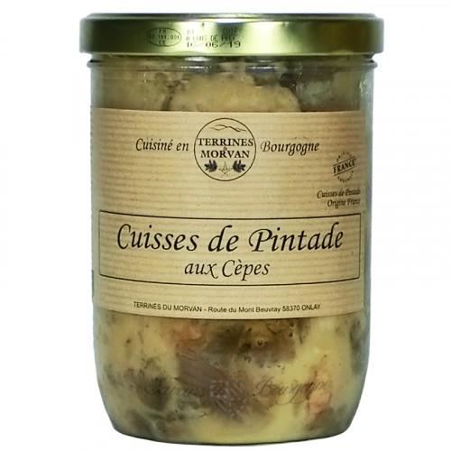 Cuisse de pintade aux c pes 750g saveurs de bourgogne - Comment cuisiner des cuisses de pintade ...
