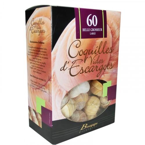 """Coquilles d'escargots """"Belle grosseur"""" étui de 60 - Bourgogne Escargots"""