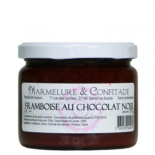 Confiture Framboise au chocolat noir 370g Marmelure & Confitade