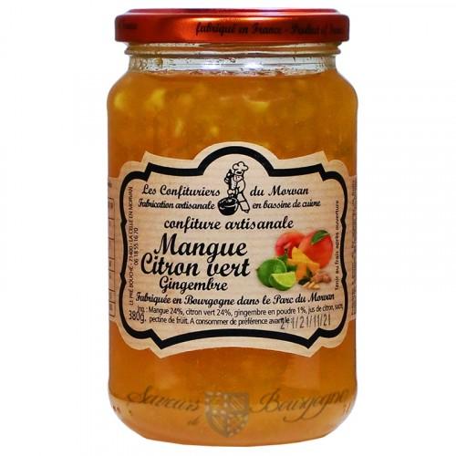 Confiture Mangue Citron vert Gingembre 380g Confiturier du Morvan