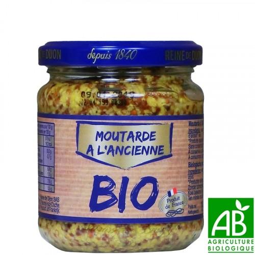 Moutarde à l'ancienne Bio 190g - Reine de Dijon