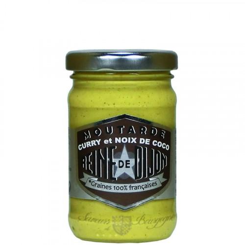 Moutarde au Curry et Noix de coco 100g - Graines 100% Française
