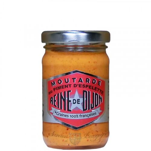 Moutarde au Piment dEspelette 100g - Graine 100% Française Reine de Dijon