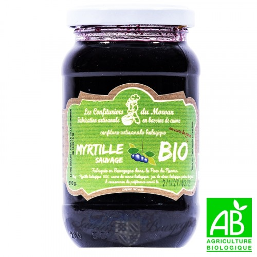 Confiture Myrtille sauvage Bio 310g Confiturier du Morvan