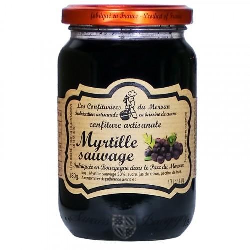 Confiture Myrtille sauvage 380g Confiturier du Morvan