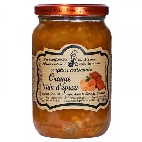 Confiture Orange-Pain d'épice 380g Confituriers du Morvan