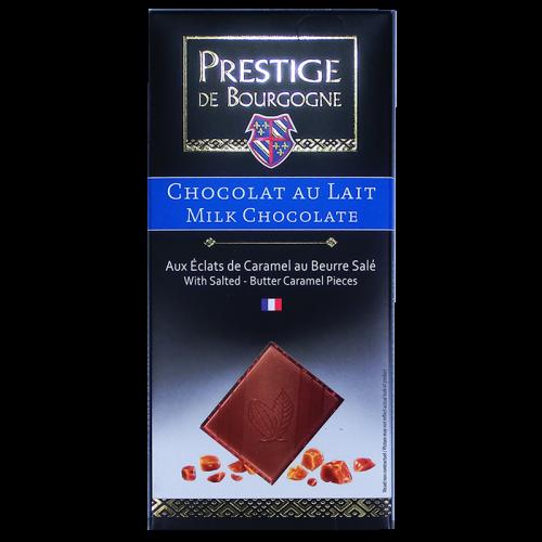 Tablette Chocolat au lait aux éclats de caramel au beurre salé 100g