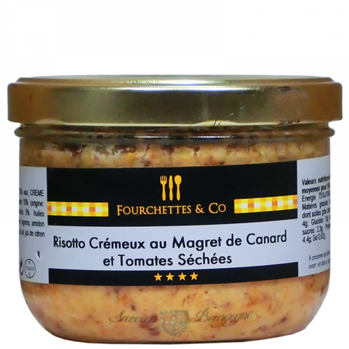 Risotto Crémeux aux Magret de canard et tomates séchées 380g