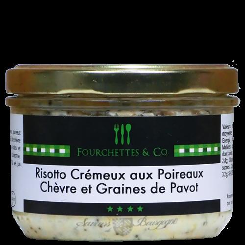 Risotto Crémeux aux Poireaux Chèvre et Graines de Pavot 200g