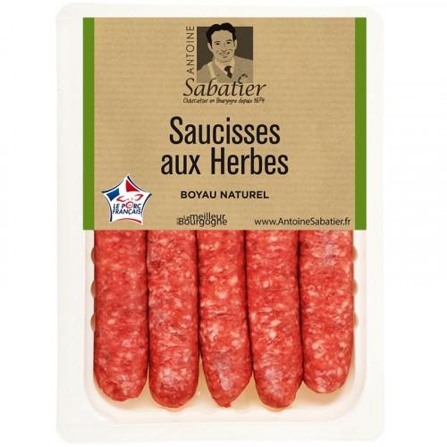 Barquette de 5 Saucisses aux Herbes 300g